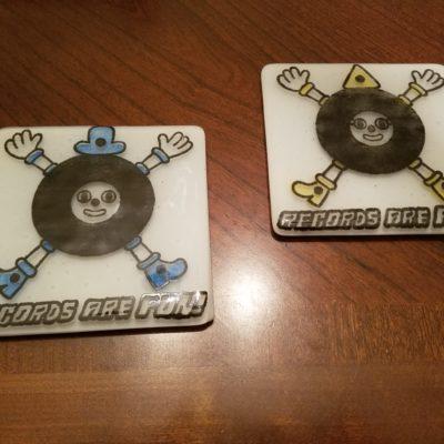 Records Are Fun! Fused-Glass Coasters